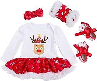 46330f514d360 Vine Robe Bébé Enfants Filles Pyjama Coverall Manches Longues Tutu Robe  Père Noël (0-