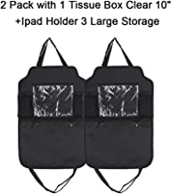 ECCPP Car Organizer Kick Mats with 3 Storage Pockets+10 Touch Screen Tablet Holder Car Seat Back Protectors(2PCS)