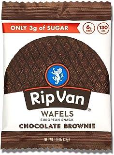Rip Van Wafels Chocolate Brownie Stroopwafels - Healthy Snacks - Non GMO Snack - Keto Friendly - Office Snacks - Low Sugar...