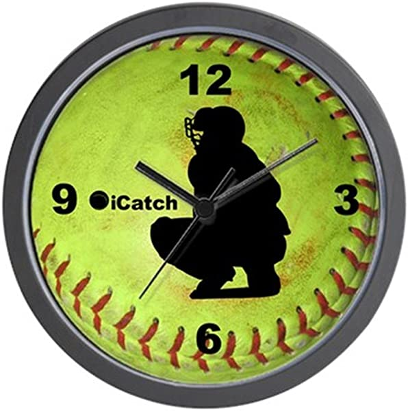 CafePress Fastpitch Softball Icatch Unique Decorative 10 Wall Clock