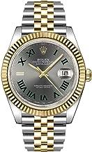 Rolex Datejust 41 Slate Dial Men's Luxury Watch on Yellow Rolesor Jubilee Bracelet 126333