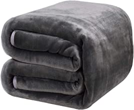 DREAMFLYLIFE Luxury Fleece Blanket 380GSM Winter Thick Blanket Super Soft Blanket Bed Warm Blanket Couch Blanket for All Season Dark Grey Queen-Size, 90x90 in