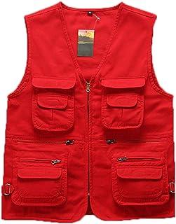 Elonglin Men's Outdoor Photography Camping Fishing Vest Multi-Pocket Waistcoat Jacket Gilet