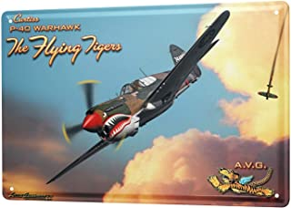 Nostalgic Tin Sign Metal Sign Plate Decorative Plaques Bar Restaurant Decorative Metal Plate Fighter Pilots World War 2 Aircraft For Garage Man Cave Beer Cafe Bar Pub Club Decor 8