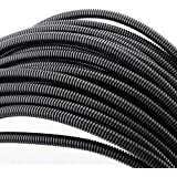 "100 FT 1/4"" Wire Loom Split Tubing Auto Wire Conduit Flexible Cover"