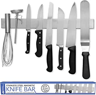 Modern Innovations 16 Inch Stainless Steel Double Sided Magnetic Knife Bar for Refrigerator with Multipurpose Use as Wall ...