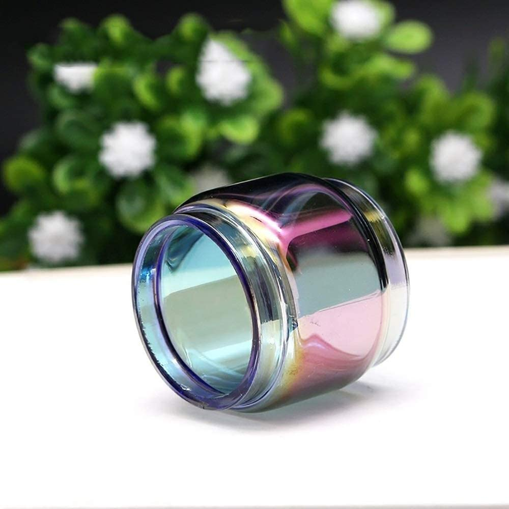 Qingtian-ceg Arco Iris de reemplazo Normal/Bombilla Pyrex Glass Tube 5ML / 8ML para SMOK TFV12 Prince Tank Atomizer para mag 225w TC Kit,Sin Tabaco ni nicotina (Color : 8ml Bulb Rainbow)