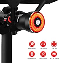 Padonow Smart Bike Tail Light: USB Rechargeable Ultra Bright Brake Sensing Bicycle Rear Lights-Light Sense Flashlight Red Back Led Accessories for Road Bikes Easy Mount for Cycling Safety Taillight