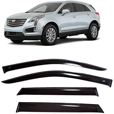 SPEEDLONG Car Window Visor Vent Shade Deflector Sun//Rain//Fog Guards Compatible with Cadillac XT5 2017 2018 2019 2020 2021