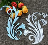 Molde de cuchillo de corte Plantilla de corte de bricolaje Molde de cuchillo en relieve Flor y mariposa Troqueladoras para hacer tarjetas