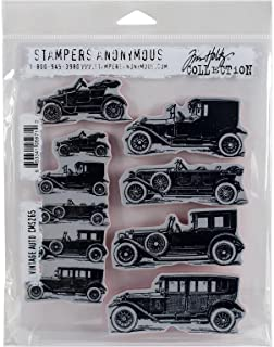Stampers Anonymous Tim Holtz Cling Stamps 7-Inch x 8.5-Inch-Vintage Auto