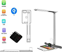Betka Multifunctional LED Desk lamp Charger Office lamp Bedroom lamp Living Room Desk lamp with Fast Wireless Charger USB Port for Apple Watch, Airpods, iOS and Android Phones, Reading, Learning