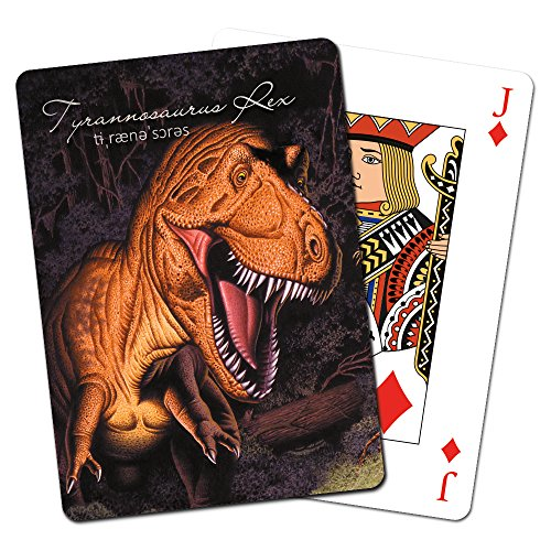 Tree-Free Greetings Deck of Playing Cards, 2.5 x 0.8 x 3.5 Inches, T. Rex Dinosaur (CD49893)