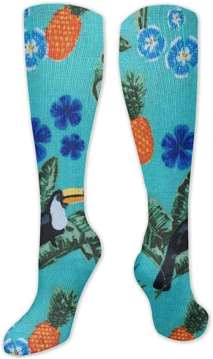 Tropical Toucan Knee High Socks Leg Warmer Dresses Long Boot Stockings For Womens Cosplay Daily Wear