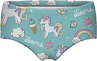 Women's Galaxy Unicorn Hipster Panties Cute Cartoon Mid-Rised Briefs