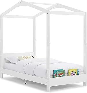 Delta Children Poppy House Twin Bed, Bianca White