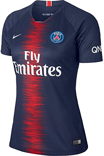 Nike 2018-2019 PSG Home femmes Football Soccer T-Shirt Maillot