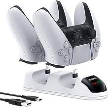 Carregador para controlador DualSense PS5 – Estação de carregamento Auarte para controles sem fio PS5, estação de carregam...