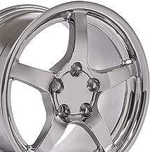 OE Wheels 18 Inch Fits Chevy Corvette Camaro Pontiac TransAm C5 Style CV05 18x10.5/17x9.5 Rims Chrome SET