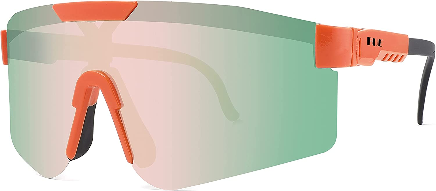FUE New Sports Polarized Glasses Sunglasses Protective Windproof Max 54% Ranking integrated 1st place OFF