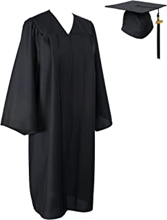 Matte Graduation Gown Cap Tassel 2019 Set for Bachelor and Ceremony