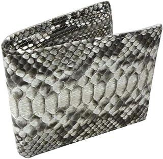 [サンタマリア]SantaMariaパイソン 財布 メンズ 両面 蛇革 二つ折り 大容量 カード入れ