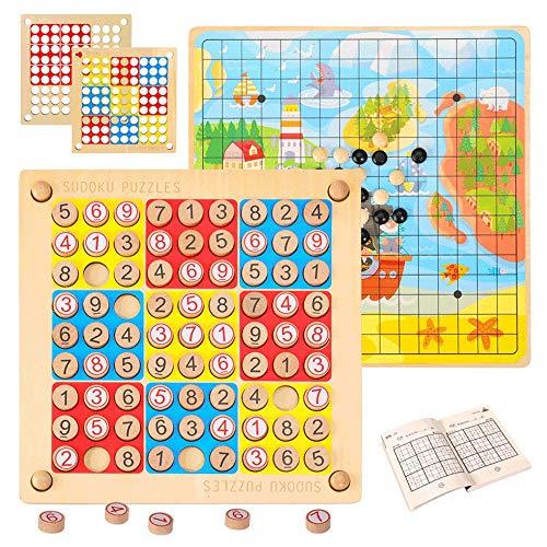 Yjdr Sudoku Jeux Enfants Tabletop Parents-Enfants interactifs Jouets Early Education Jeux Benefit intellectuelle Garçons et Filles Backgammon Pensée Logique
