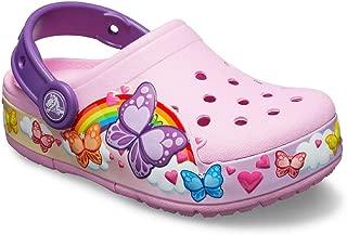 Crocs Kids' Boys and Girls Butterfly Band Light Up Clog