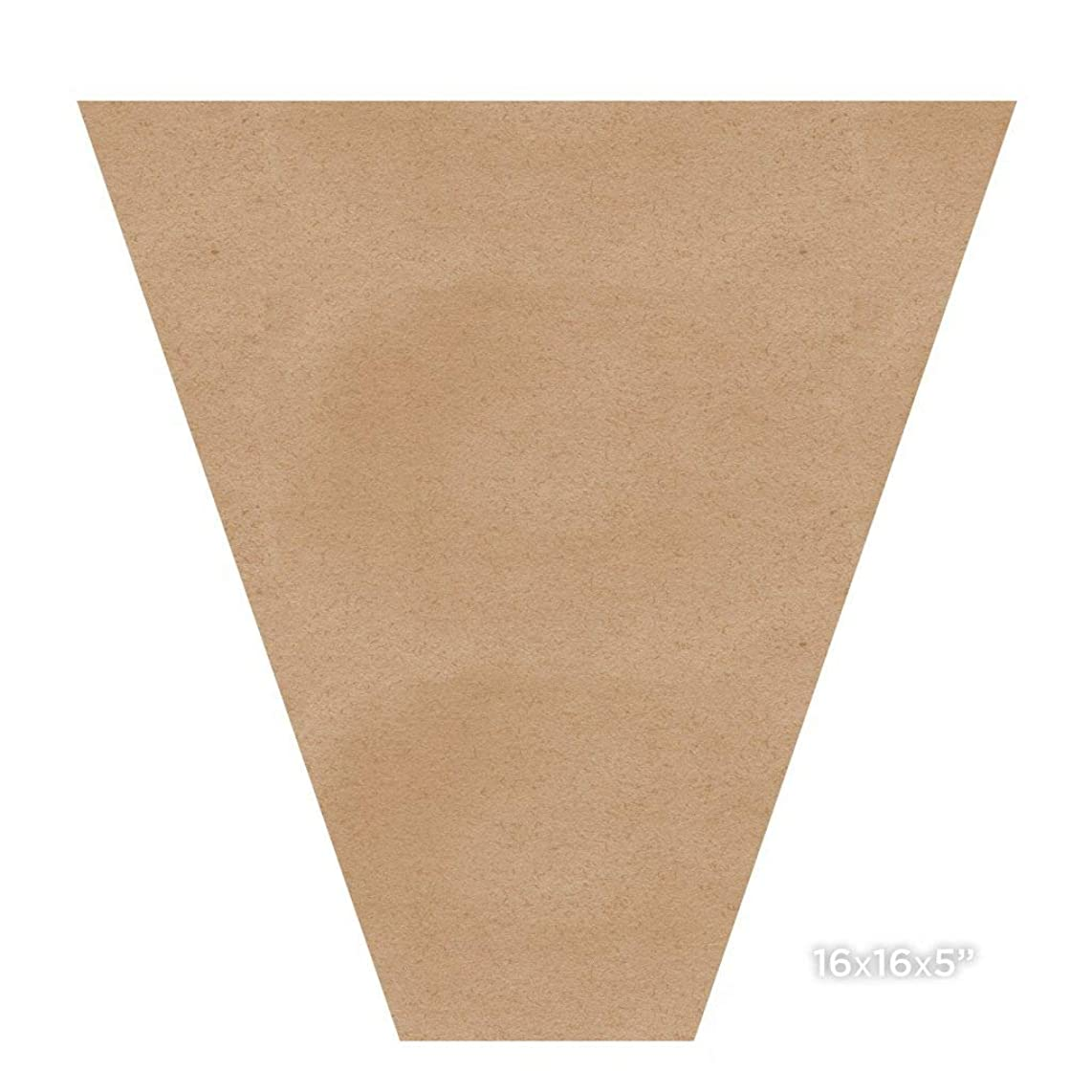 Kraft Paper Bouquet Sleeves - Brown Paper Bouquet - Paper Sleeves (16x16x5 in. 10 pcs)