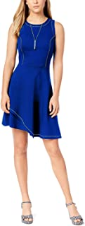 Anne Klein Women's Printed Faux-Wrap Dress