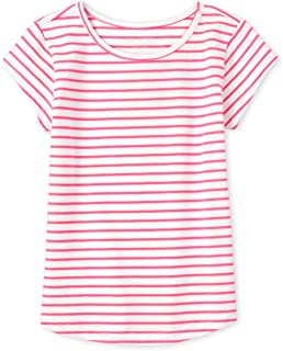 The Children's Place Girls' Striped Short Sleeve Shirt