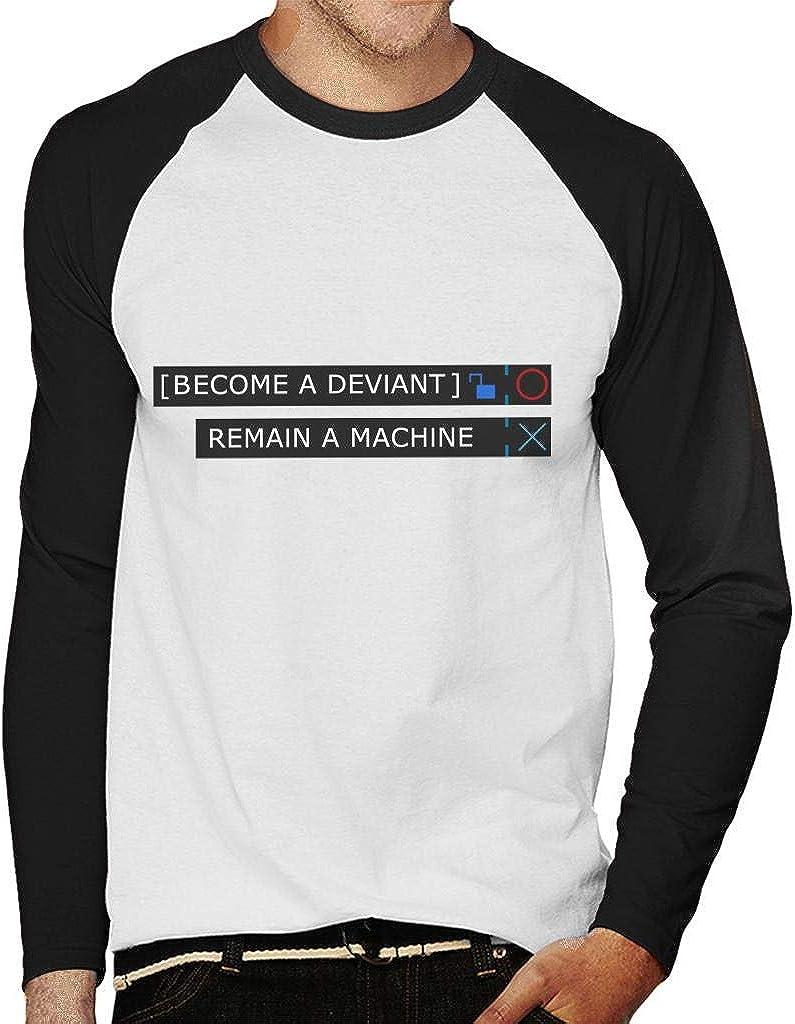 Cloud City 7 Detroit Become Human Men's Baseball Long Sleeved T-Shirt