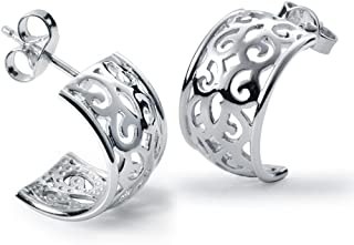 Ohrringe Clip Silber 925 Halbcreolen Ohrclip für Damen mattiert