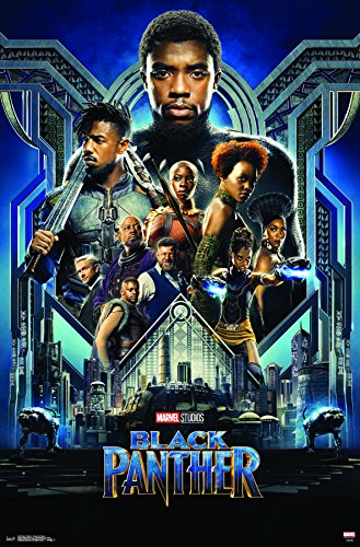 Trends International MCU - Black Panther - Group One Sheet Wall Poster, 22.375' x 34', Unframed Version