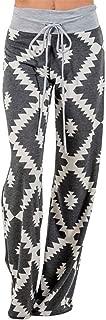 Thenxin Women Pajama Lounge Pants Print Comfy Casual Palazzo Drawstring Wide Leg Pj Bottoms Trouser