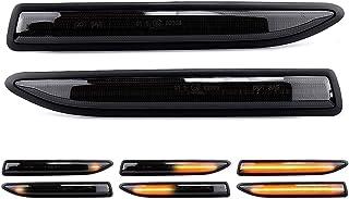 LIGHTDELUX Ersatz für 2 X LED Blinker Seitenblinker Blinkleuchte Dynamisch Laufblinker Kotflügel Blinker Black Vision mit E Prüfzeichen Links Rechts V 1707087G