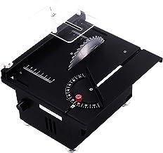 Sierra de mesa de precisión con profundidad de corte de 40mm, mini sierra de banco de herramienta de bricolaje de elevación ajustable eléctrica para modelo de madera, azulejo de metal, artesanía