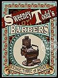 Sweeney Todd Barbers Viktorianisches Poster – Vintage