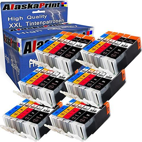 Alaskaprint 30x kompatible Druckerpatronen als Ersatz für Canon PGI-550 XL CLI-551 XL mit Canon Pixma MG5400 Series MG5450 MG5550 MG5650 MG6450 MG6650 MG7500 MX725 MX925 IX6850 IP7200 IP7250 IP8700 IP8750 MX720 IX6800 MX920 MG5500 MG5600 MG5655 MG6300 MG6350 MG6400 MG6600 MG7100 MG7150 MG7550 All-in-One MG5450s Canon PGI-550XL CLI-551XL Mit Chip