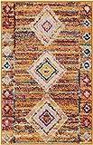Well Woven Zelda Diamond Medallion Orange Area Rug 20x31 (20' x 31' Mat) Soft Plush Traditional Oriental Vintage Moroccan Carpet