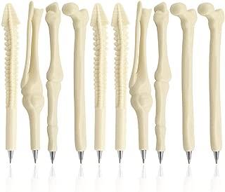 MagicW Novelty Bone Shape Ballpoint Pens Finger Skull Bone Pen For Nurse Doctor..