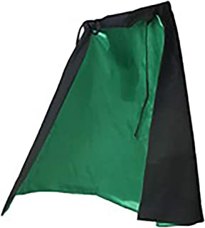 Fun Costumes Women's Black Outer Shell Green Satin Lining Witch Cape