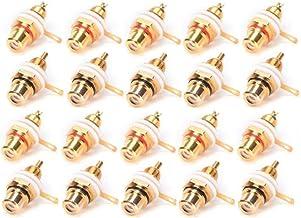 Baalaa 20 Stks Vergulde RCA Terminal Jack Plug Vrouwelijke Socket Chassis Panel Connector voor Versterker Speaker
