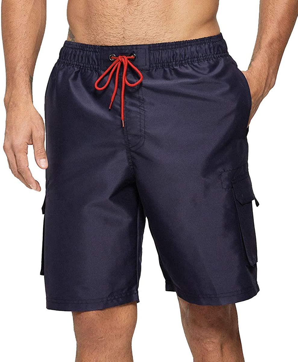 Vogyal Mens Swim Trunks Quick Dry Bathing Suit Beach Board Shorts with Mesh Lining