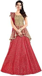 INMONARCH Gorgeous Jacquard Silk Red Lehenga Choli LSR7014