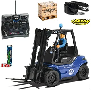 Carson 5009071751: 14Gabelstapler THW 2.4G 100% RTR, Azul