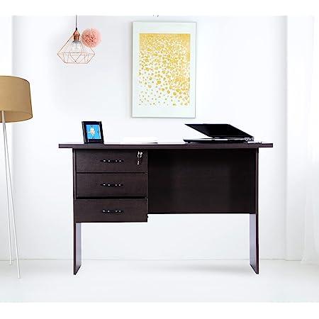 Deckup Reno Engineered Wood Study Table and Office Desk (Dark Wenge, Matte Finish)