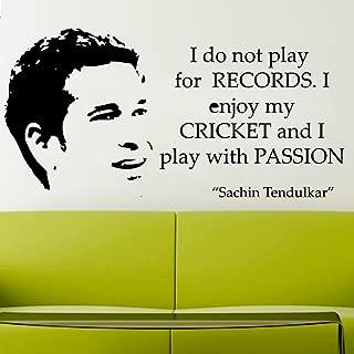Sachin Tendulkar Quote Vinyl Sticker Art Poster Easy Peel & Stick Wall - Decor
