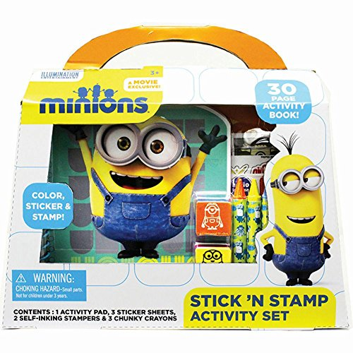 Product Image of the Minions Stick 'N Stamp Activity Set by Tara Toy Corporation
