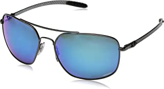 66a7bff1c Ray-Ban Women's RB8322CH Chromance Sporty Aviator Sunglasses
